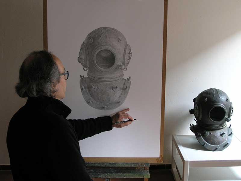 Josep Maria Compte dibuixant