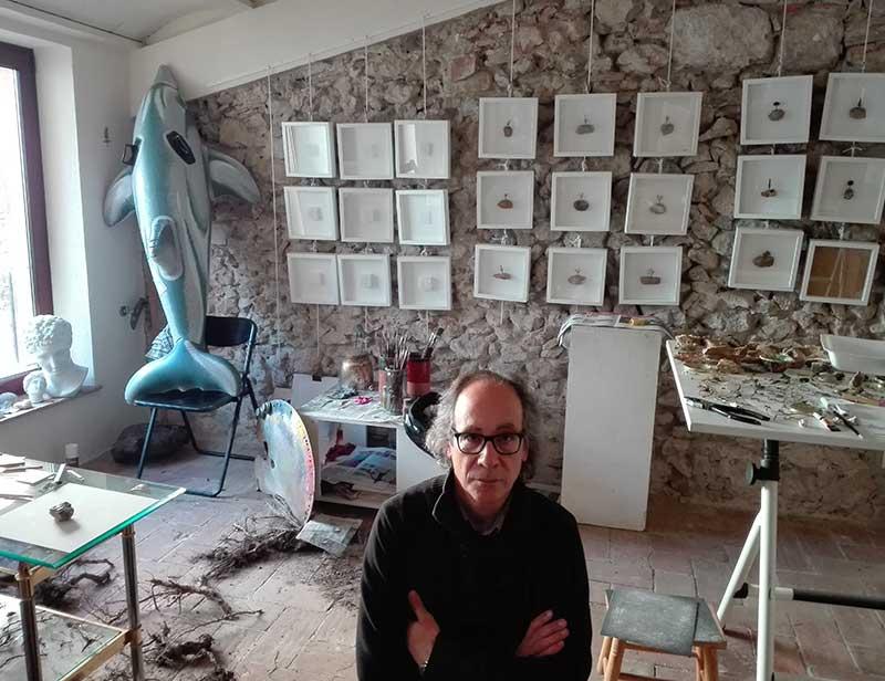 Josep Maria Compte al seu estudi