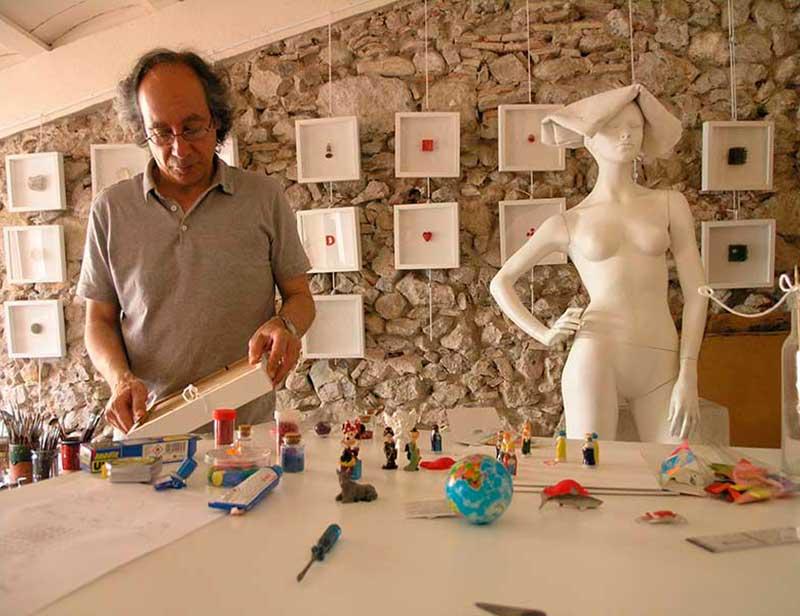 Josep Maria Compte al seu taller