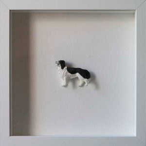 Artpiece: Colors & Animals I - B/W - Border Collie