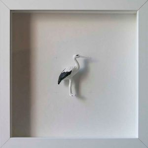Artpiece: Colors & Animals I - B/W - Stork