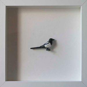 Artpiece: Colors & Animals I - B/W - Heron