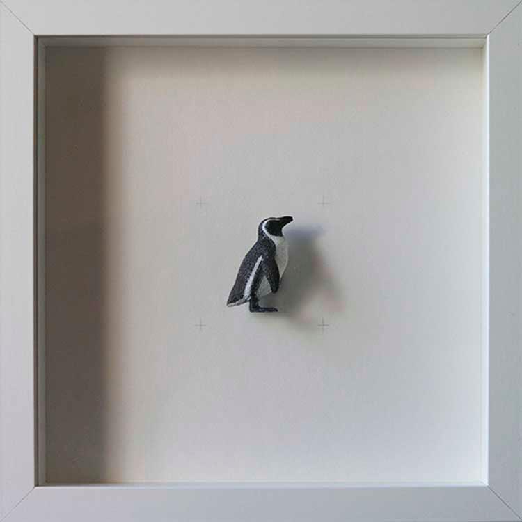 Artpiece: Colors & Animals I - B/W - Penguin