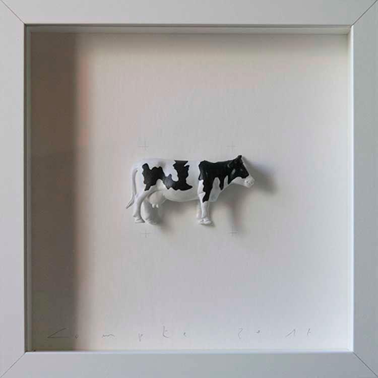 Artpiece: Colors & Animals I - B/W - Cow