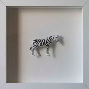 Artpiece: Colors & Animals I - B/W - Zebra