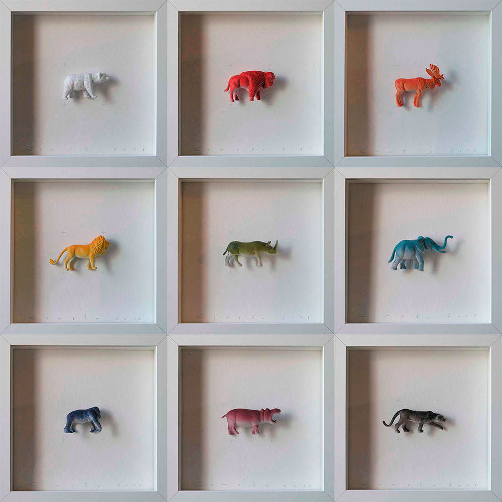 Collection Colors&Animals II. One color animals by Josep Maria Compte