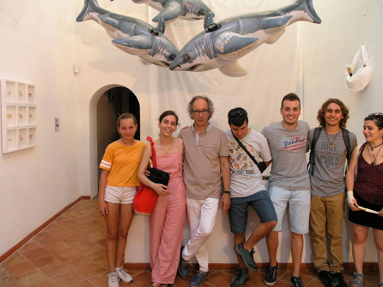 Josep Maria Compte a la presentació de l'exposició. Colors & Animals i White Summer 2018