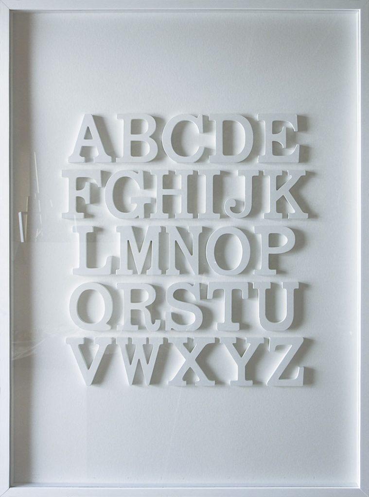 Alphabet Letters. Artwork by Compte