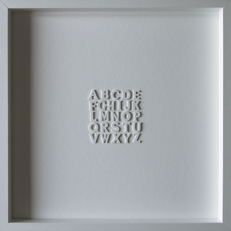 Artpiece: Letters of the alphabet by Compte