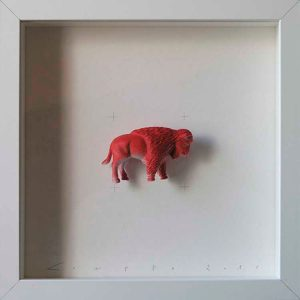 Artpiece: Colors & Animals II - One color - Bison