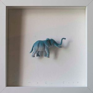 Artpiece: Colors & Animals II - One color - Elephant