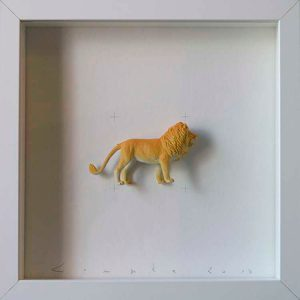 Artpiece: Colors & Animals II - One color - Lion