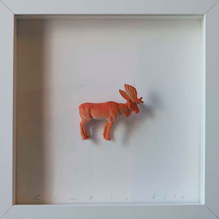 Artpiece: Colors & Animals II - One color - Reindeer