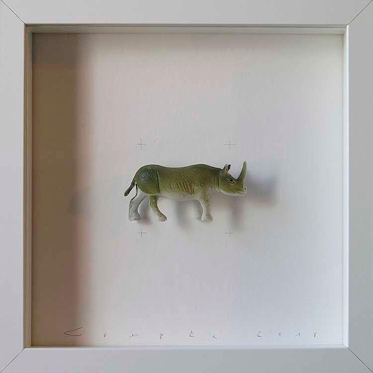 Artpiece: Colors & Animals II - One color - Rhinoceros