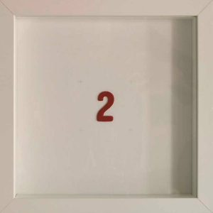 Artpiece: Color of the numbers - The number 2, the red one