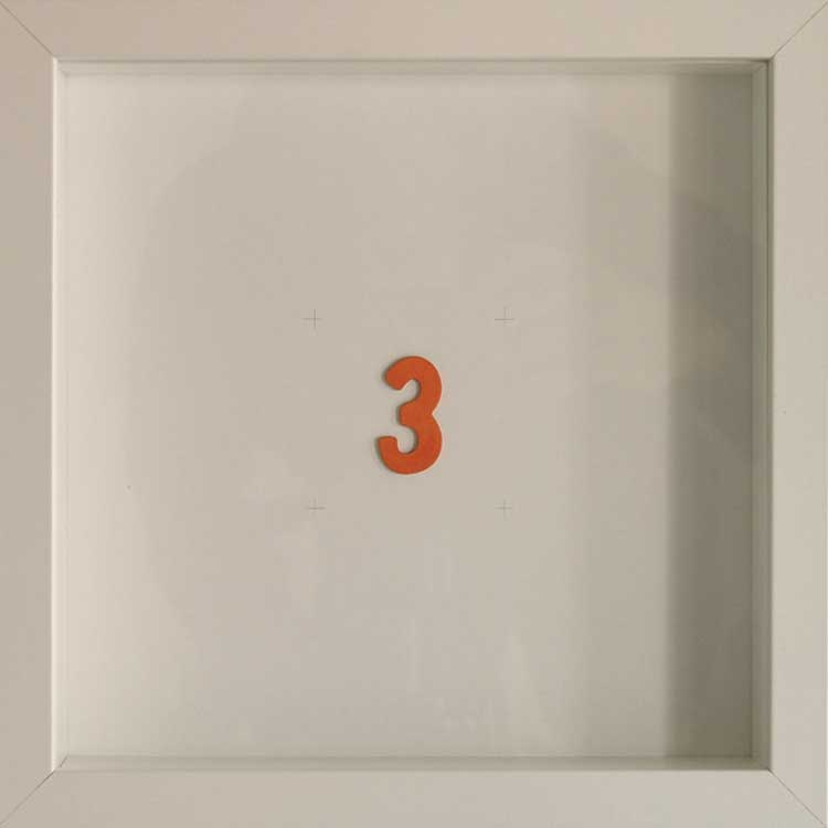 Artpiece: Color of the numbers - The number 3, the orange one