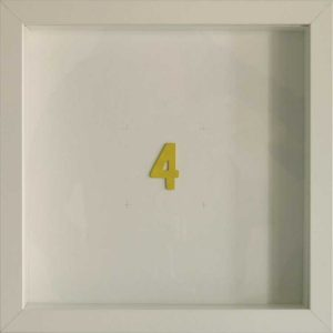 Artpiece: Color of the numbers - The number 4, the yellow one
