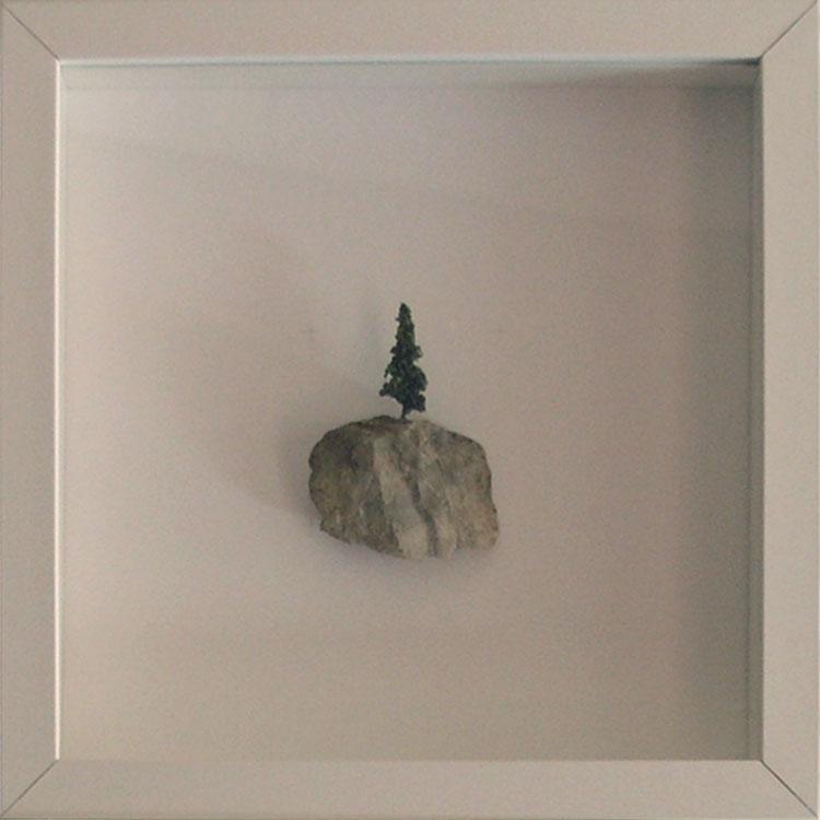 Artpiece: Universos I - landscape with fir