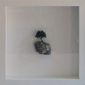 Artpiece: Universos I - landscape with cherry tree