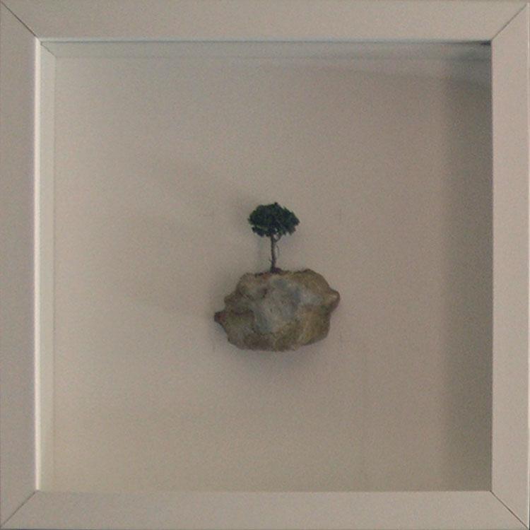 Artpiece: Universos I - landscape with pine tree